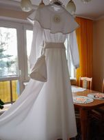 Sukienka Komunijna (ALBA) + wianek i torebeczka gratis