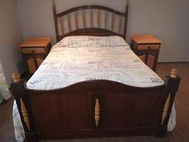 Black and Yellow wood bed set