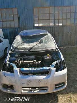 Chev aveo 1.5 stripping for spares and body accessories.