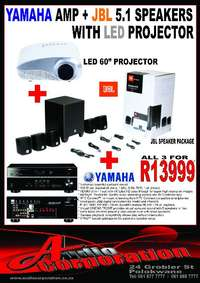 Image of Audio Corp: Yamaha/JBL Home Theater With Projector System