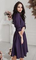 Шелковое фиолетовое платье CherryLand