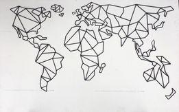 Metalowa mapa świata mapa metal podróże