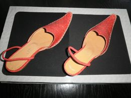 buty DIOR wężowa skóra czerwone