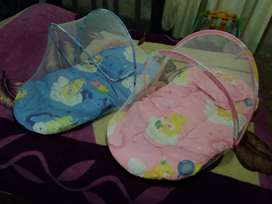 Baby sleeper cushion with insect net and pillow