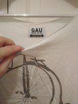 Gau bluzka koszulka S/M z rowerem bawełniana
