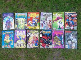 Komiksy Batman, Spiderman, Punisher, Kaczor Donald, Tom i Jerry i inne