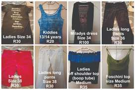 Pre-loved Clothing for sale
