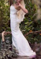 Свадебное платье. Платье со шлейфом. Силуэт Рыбка(Русалка). Кружевное.