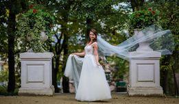 Tanio! Suknia ślubna idealna. Nowe pudełko na obrączki gratis