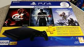 SONY PS4 500GB HDR. BRAND NEW SEALED IN THE BOX. IT COMES WITH 3 GAMES