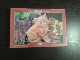 Nowe puzzle koty. Castorland 500 Rudy Kot sprzedam.