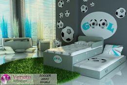 Funkcjonalne łóżko piętrowe-niskie,wysuwane dla dzieci,2 materace