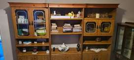 Solid Wood Wall Unit (Display Cabinet)