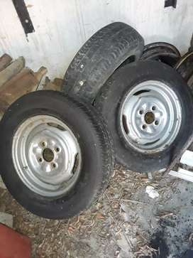 4 13 inch rims and tyres