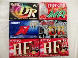 6 nowych kaset: Sony, Maxell, Fuji i Philips. FOLIA