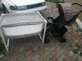 Bounce baby stroller and baby cot for sale - URGENT