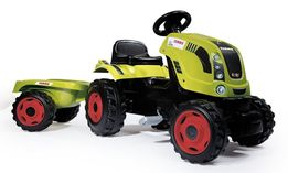 Трактор на педалях с прицепом Smoby CLAAS XL 710114