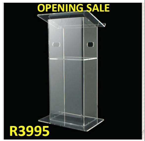 Clear Podiums For Church Online Services On Sale Now