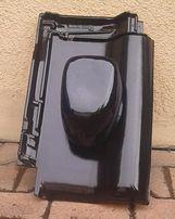 Kominek wentylacyjny Creaton Titania czarna glazura 130mm CERAMICZNY