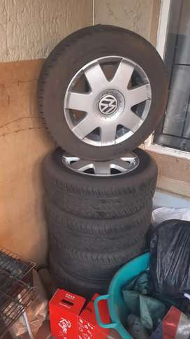 Polo tires and rims for sale, the tires have been barely used