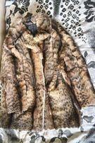Шуба из камышового кота. 100% натуральный мягкий мех. Б/У. Размер M-L