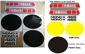 1980 Yamaha YZ 465 decals graphics, vinyl stickers kits