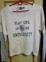 Bluzka biała Play Girl 1969 L M XL