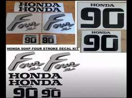 Honda 90hp four stroke stickers decals sets