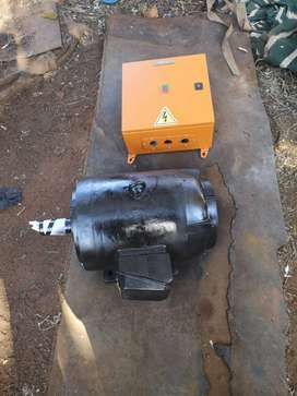 Electric motor and star delta starter