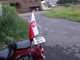 maszt z flagą do motocykla