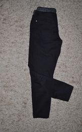 Черные котоновые штаны george, пояс-резинка