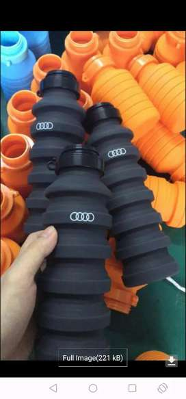 Rebranded 2019, 550ml silicone collapsible folding water bottle
