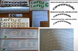 Cannondale frame and rim stickers decals vinyl cut graphics kits
