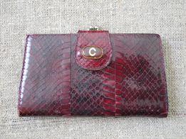 Кошелек портмоне 100% кожа питона , змеи ( Винтаж , Европа )