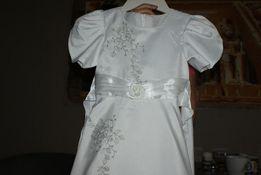 Sukienka komunijna na wysoką dziewczynkę ok. 140cm