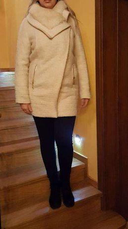 Ekskluzywna Kurtka płaszcz futerko Monnari futro płaszczyk kolor ecru Piekary Śląskie - image 3
