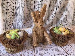 Kolekcja Wielkanocna zajączek koszyczki jaja jajka Wielkanoc HANDMADE