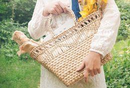 Соломенная сумка, пляжная сумка, плетеная еко сумка ручной работы опт