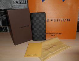 Кошелек мужской клатч портмоне бумажник LV Louis Vuitton, кожа, Франц