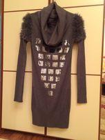Платье, туника с хомутом, Италия, р-р М