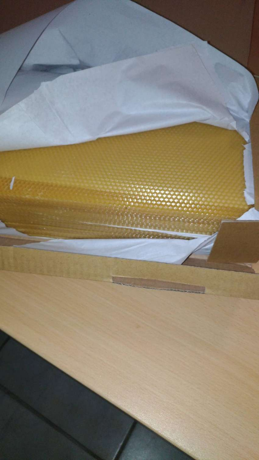 Beeswax foundation sheets 0