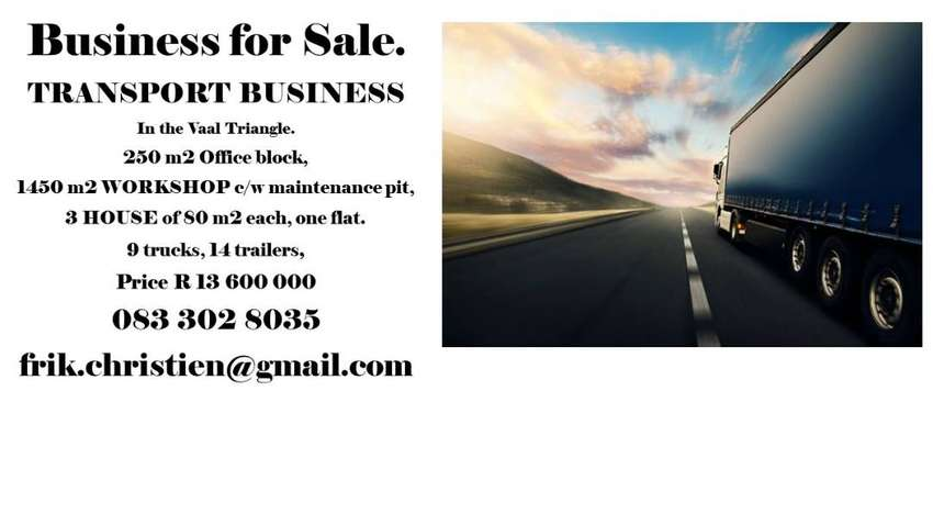 TRANSPORT BUSINESS FOR SALE IN VAAL TRIANGLE 0