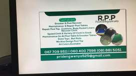 Pool table and snooker table maintenance services and repair ,cover