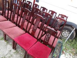 drewniane krzesła z motywem smoka ok.18szt.