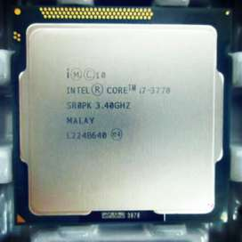 i7 3770 CPU and DDR 3 Rams for sale