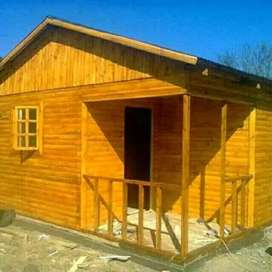 Hut wooden house