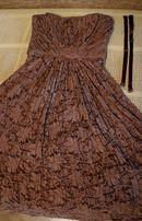 Кружевное платье на выпускной