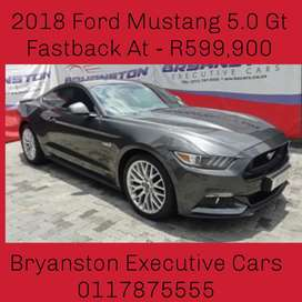 2018 Ford Mustang 5.0 Gt Fastback At - R599,900
