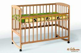 Детская кроватка буковая
