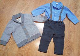 Komplet ubranko do chrztu dla chłopca H&M 68, wysyłka gratis!